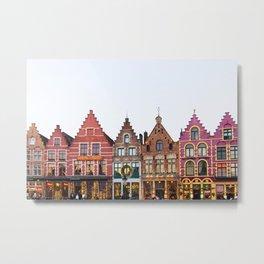 Colorful Bruges Metal Print