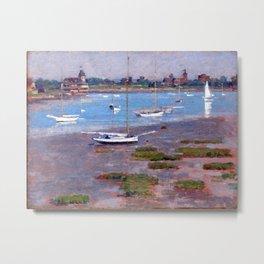 Theodore Robinson Low Tide, Riverside Yacht Club Metal Print