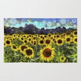 Sunflowers Van Goth Rug