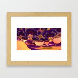 Nevermore Colonnade (3D Fractal Digital Art) Framed Art Print
