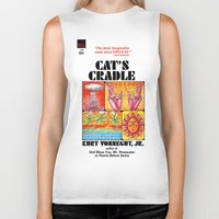 vonnegut Biker Tanks featuring Vonnegut - Cat's Cradle by Neon Wildlife