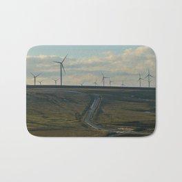 wind turbines Bath Mat