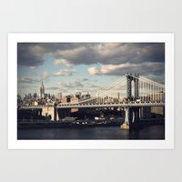 gotham Art Prints featuring Gotham by Michael Dulle