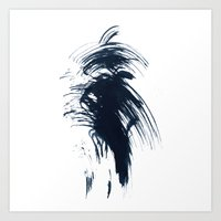 Abstract ink splashes Art Print