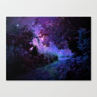 fantasy Canvas Prints featuring Fantasy Path Purple by 2sweet4words Designs