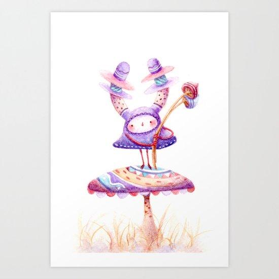 In The Land Of Magic Mushrooms Art Print