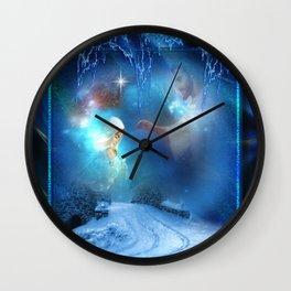 Holy Night - Christmas Art By Giada Rossi Wall Clock