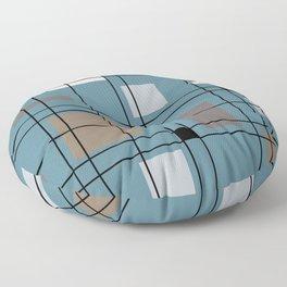 1950's Abstract Art Floor Pillow