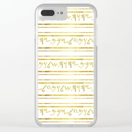 Yahuah's Shalom Clear iPhone Case