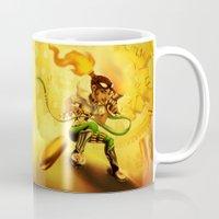 bane Mugs featuring Flame Bane by Zosya H. ~LyphejaN7~
