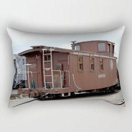 Relic of the Historic Denver & Rio Grande Western NG Railroad Rectangular Pillow