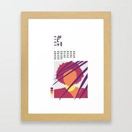 Calnedar 2019 July Framed Art Print