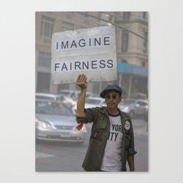 Imagine Fairness Canvas Print