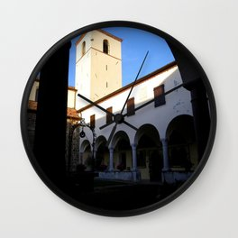 Italy In A View: A Renaissance Abbazia Cloister Wall Clock