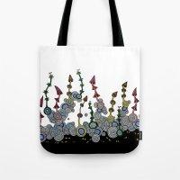 mushroom Tote Bags featuring mushroom by Sèиga