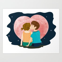 Thanks for being always next to me Art Print