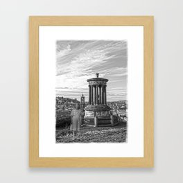 The Girl on Calton Hill Framed Art Print