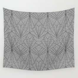 Art Deco in Black & Grey Wall Tapestry