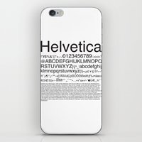 helvetica iPhone & iPod Skins featuring Helvetica (Black) by Zuno