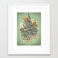 city Framed Art Prints featuring Emerald City by David Fleck