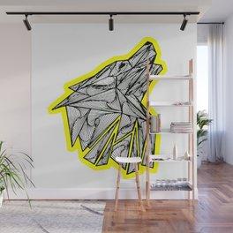 Zentangle Wolf Howl Wall Mural
