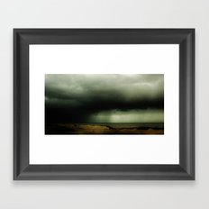 As the sky started crying... Framed Art Print