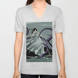 andromeda chained to a rock Unisex V-Neck