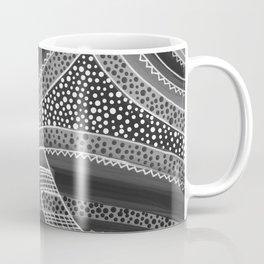 Black and White Waves Coffee Mug