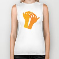 hands Biker Tanks featuring hands by alex eben meyer