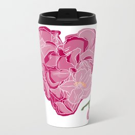 Heart of flowers Metal Travel Mug