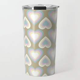 Custom Valentine's Day Multicolor Heart Pattern Travel Mug