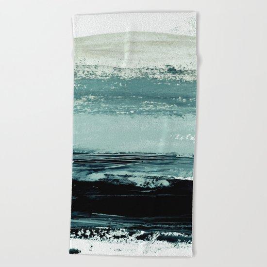 abstract minimalist landscape 4 Beach Towel