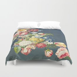 Floral Tribute to Louis McNeice Duvet Cover