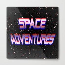 Space Adventures Arcade banner Metal Print