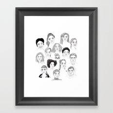 GRL PWR 2 Framed Art Print