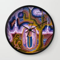 paradise Wall Clocks featuring Paradise by CrismanArt