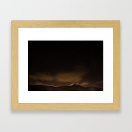 Staring night Framed Art Print