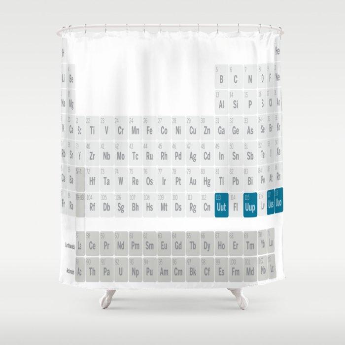 Mendeleev periodic table shower curtain by lovehope society6 mendeleev periodic table shower curtain urtaz Gallery