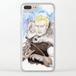 A Wolf in Disguise Clear iPhone Case
