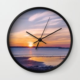 Sunrise in Revere Wall Clock