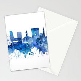 Lille France Skyline Blue Stationery Cards