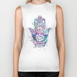Hamsa Hand Watercolor Poster Wedding Gift Biker Tank