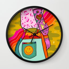 Smiley Booty Wall Clock