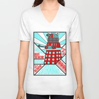 doctor who V-neck T-shirts featuring Doctor Who by Alli Vanes