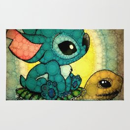Stich and Turtle Rug
