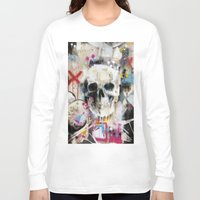 skull Long Sleeve T-shirts featuring Skull by FAMOUS WHEN DEAD