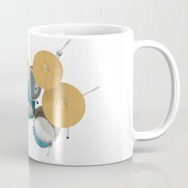 Green Drum Kit Coffee Mug