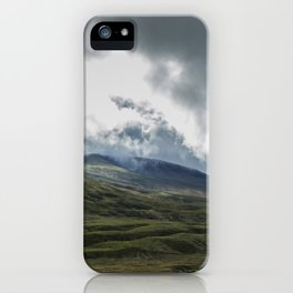 Scottish Mountains with Rain Clouds iPhone Case