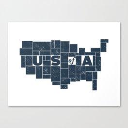 U S of A Canvas Print