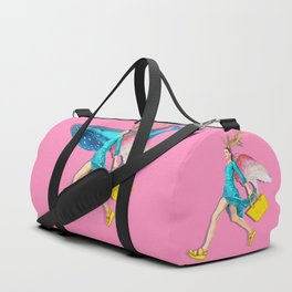 Angel and blue whale Duffle Bag